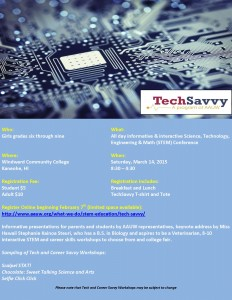Click on the graphic to learn more about our upcoming Tech Savvy event!