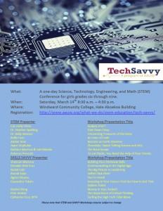 AAUW Honolulu (HI) TechSavvy Flyer