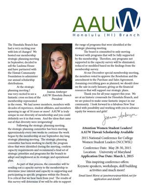 AAUW Honolulu Annual Newsletter